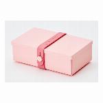 デンマーク製 折り畳み式ランチボックス&多目的ボックス uhmm box No.01 ピンクボックス/ピンクストラップ