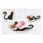 黒猫しっぽ皿