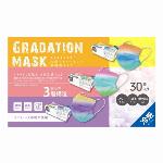 サラリト冷感グラデーション不織布マスク 3color RS-L1946 30枚入