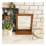 コンパクトミラー 鏡 卓上 スタンドミラー ブランド かわいい おしゃれ 木製