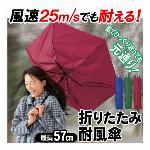 耐風 折りたたみ傘 無地 強度 アップ 強風に負けない 壊れにくい おりたたみ傘 (検索:頑丈 高硬度 安定感 軽い 折りたたみ収納 55cm 紳士用 婦人用 男女兼用 雨具 かさ カサ ジャンプ傘 長傘 ) ◇ 耐風傘