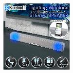Bluetooth スピーカー Ver.5.0 サウンドバースピーカー ミニ 光る ブルートゥーススピーカー 充電式 ワイヤレススピーカー スマホスタンド 付 microSDHCカード USBメモリー 対応 マイク搭載 ハンズフリー通話 オーディオケーブル付 iphone ◇ シルバースピーカー