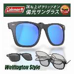 クリップオン ウェリントン サングラス コールマン 偏光サングラス CL06-1ブラック CL06-3ブルー Coleman クリップオン偏光サングラス メガネ はさむだけ サングラス アウトドア ドライブ 釣り スポーツ ◇ CL06