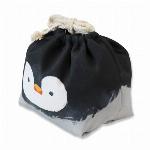 アニマルランチ巾着 ペンギン(保冷機能付き)