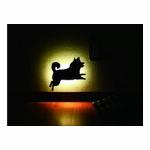 柴犬 ウォールLEDライト 【ジャンプ】<日本製>