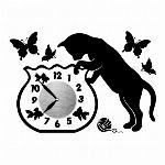 ウォールクロックステッカー 時計シール 時計ステッカー ねこ キャットフィシュボウル