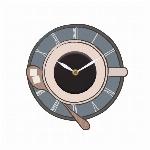 [新作]ウォールクロックステッカー2 カフェ 時計ステッカー  CUP