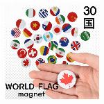 30国国旗マグネット