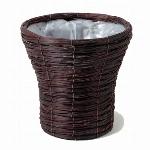 こげ茶色結束経木シンヒ゛深6号鉢カハ゛ー
