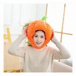 かぼちゃ帽子 キャップ 着ぐるみ 南瓜 被り物 野菜
