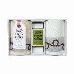 サヴォンドマルセイユ ハンドタオル、オリーブ石鹸セット