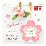 桜【日本製の優しいサクラの香りのサシェ☆におい袋・香り袋】SH-32 アロマサシェサクラ
