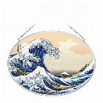 ステンドグラス風サンキャッチャー「北斎」日本限定商品 Lサイズ