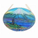 ステンドグラス風サンキャッチャー「富士山と江の島」日本限定商品 Mサイズ