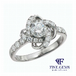 1.00ct UP PT950 Dianond Ring