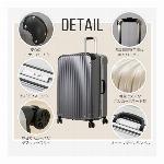 スーツケース キャリーケース TSAロック対応 フレームタイプ カラバリ豊富