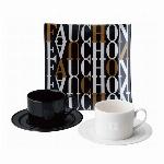 FAUCHON (フォション)トレー付ペアコーヒーセット