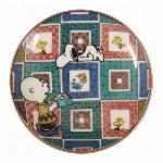 スヌーピー 九谷焼豆小皿(石畳)