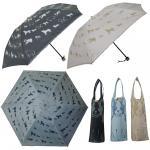 イヌ柄 晴雨兼用折りたたみ傘【2段折】