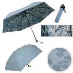 レディース雨傘 濡れると花柄が浮き出る傘折傘【ピンク】