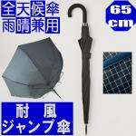メンズ自動開閉傘 雨晴兼用 カチオンチェック【灰パイピング】