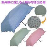 レディースジャンプ傘 雨晴兼用 裏プリント【ベージュ・アメリカンショートヘア】