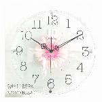 アートフラワークロック 掛け時計 ホワイト【日本製】