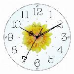 アートフラワークロック 掛け時計 レッド【日本製】