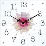 アートフラワークロック スクエアタイプ 掛け時計 【日本製】