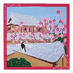 たまのお散歩(梅・2月) 小風呂敷 50cm×50cm