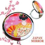 JAPAN土産コンパクトミラー★金舞妓