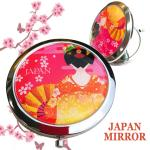 JAPAN土産コンパクトミラー★赤舞妓